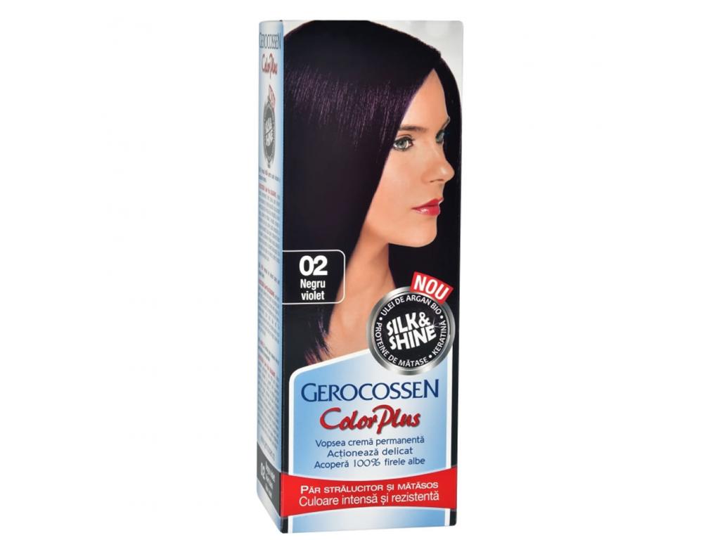 Vopsea De Par Silkshine 02 Negru Violet Gerocossen Color Plus