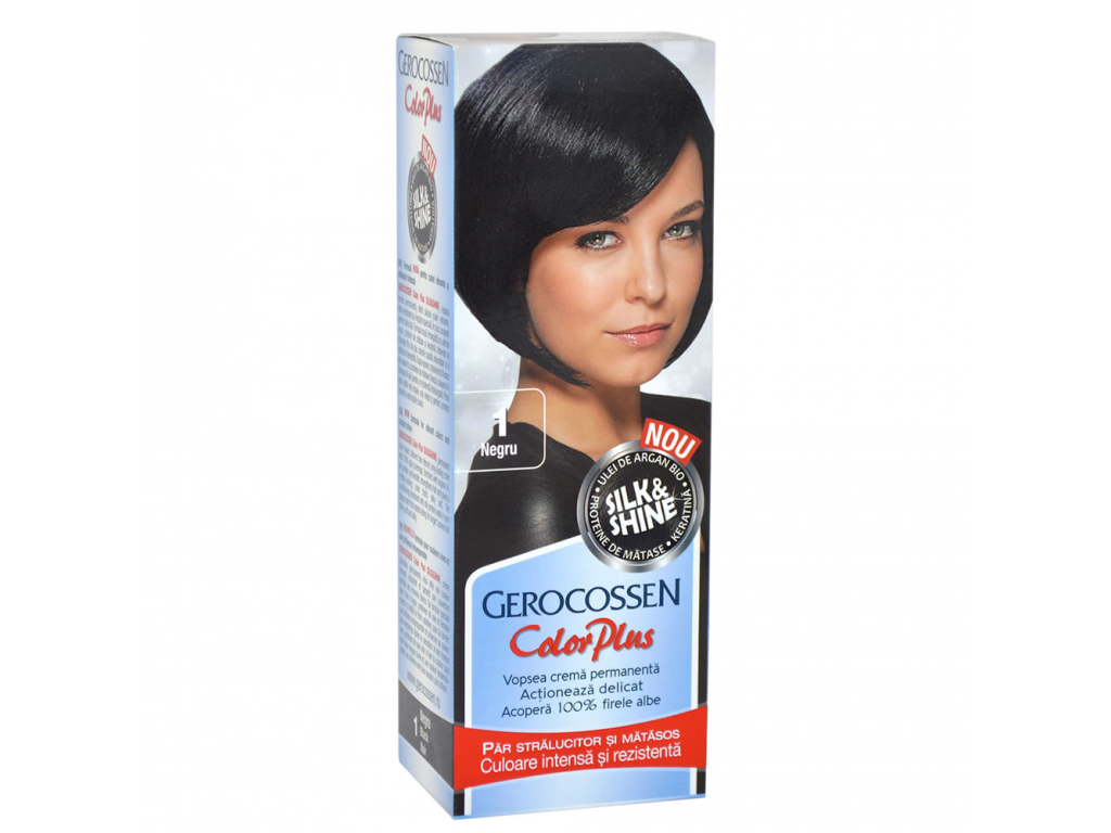 Vopsea De Par Silkshine 1 Negru Gerocossen Color Plus