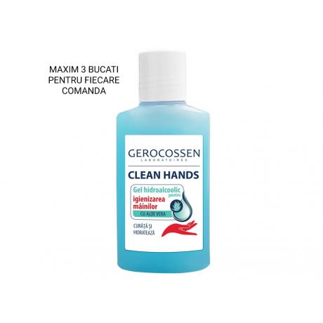 Gel hidroalcoolic pentru igienizarea mainilor Clean Hands 100 ml