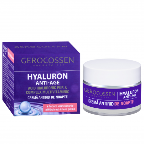 Crema antirid de noapte HYALURON ANTI-AGE, 50 ml