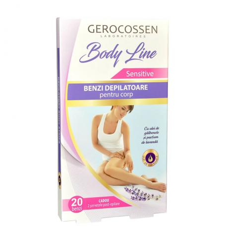 Benzi depilatoare pentru corp Sensitive Body Line