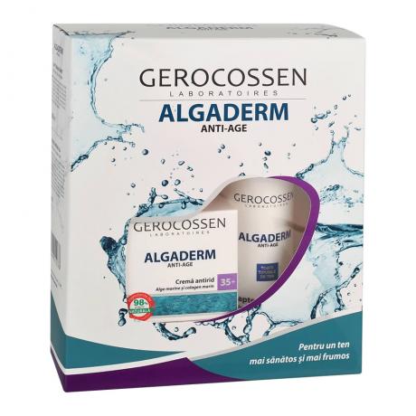 Caseta Cadou 35+: Crema antirid si Lapte demachiant Algaderm