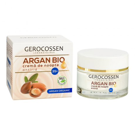 Crema de noapte antirid cu ulei de argan organic