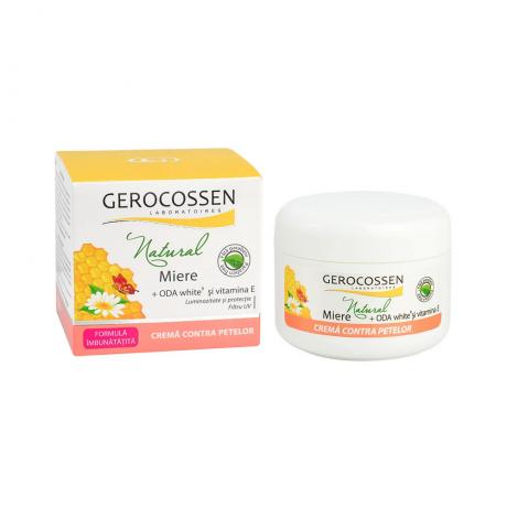 Crema contra petelor cu vitamina E - Gama Natural Miere