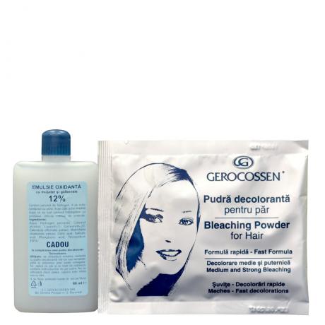 Pudra decoloranta + Emulsie oxidanta 12%