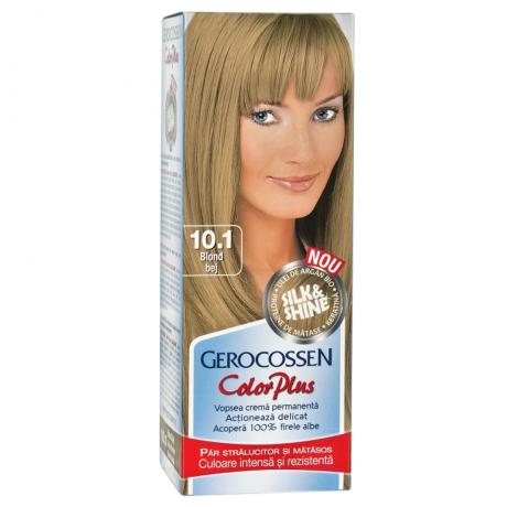 Vopsea de par Silk&Shine 10.1 Blond Bej - Color Plus