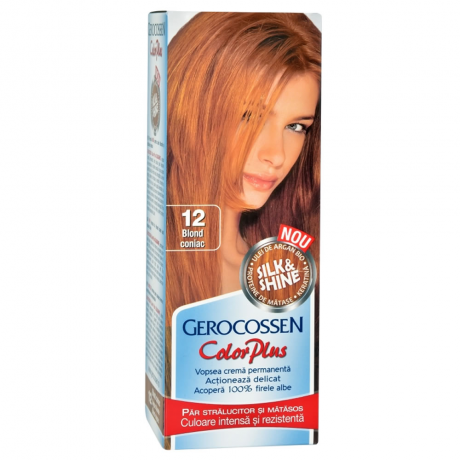 Vopsea de par Silk&Shine 12 Blond Coniac - Color Plus