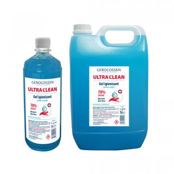 Pachet gel igienizant maini Ultra Clean:Gel igienizant 5 litri+Gel igienizant 1 litru