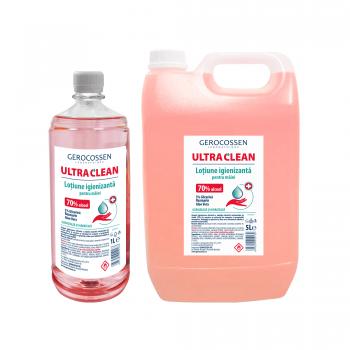 Pachet lotiune igienizanta maini Ultra Clean:Lotiune igienizanta 5 litri+Lotiune igienizanta 1 litru