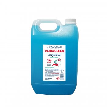 Gel igienizant pentru maini 70% alcool ULTRA CLEAN 5 l