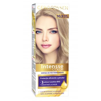 Vopsea de par permanenta Intensse Color 10.3 Blond Natural