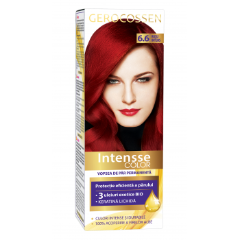 Vopsea de par permanenta Intensse Color 6.6 Rosu Intens