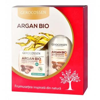 Pachet 25+: Crema hidratanta si Lapte demachiant Argan Bio