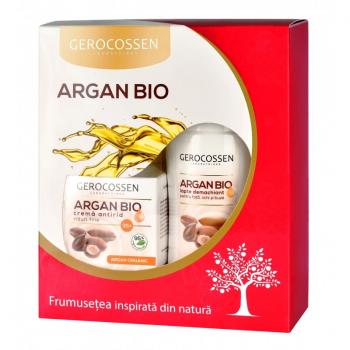 Pachet 35+: Crema antirid riduri fine si Lapte demachiant Argan Bio