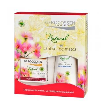 Caseta Cadou Natural Laptisor de Matca: Crema antirid de zi + Lapte demachiant