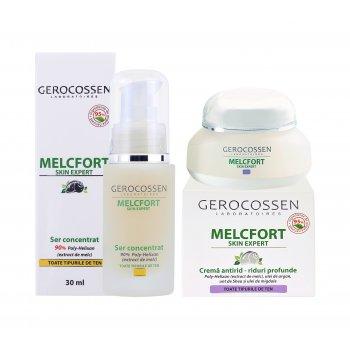 Pachet Melcfort: Ser antirid + Crema antirid riduri profunde GRATIS