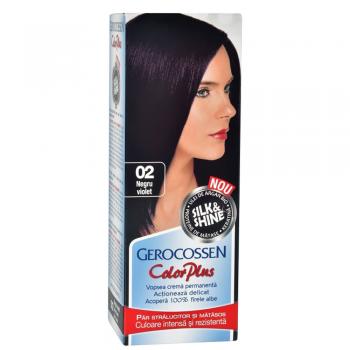Vopsea de par Silk&Shine 02 Negru Violet - Color Plus