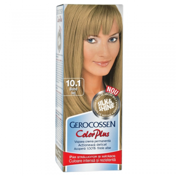 Vopsea de par Silk&Shine 10.1 Blond Bej - Color Plus