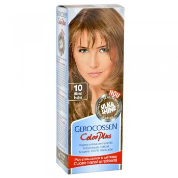 Vopsea de par Silk&Shine 10 Blond Inchis - Color Plus