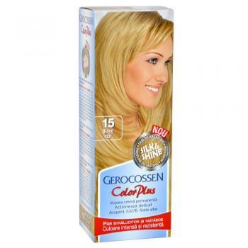 Vopsea de par Silk&Shine 15 Blond Clar - Color Plus