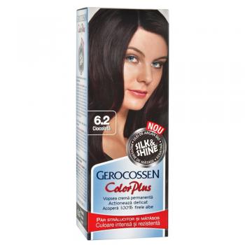 Vopsea de par Silk&Shine 6.2 Ciocolata - Color Plus
