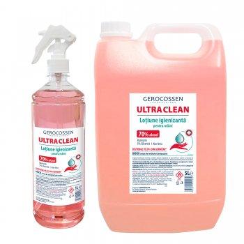 Pachet lotiune igienizanta maini Biocid Ultra Clean:Lotiune igienizanta 5 litri+Lotiune igienizanta 1 litru