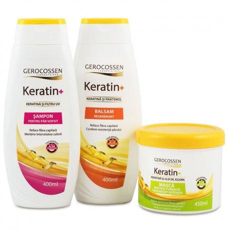 Pachet Keratin+ pentru par vopsit