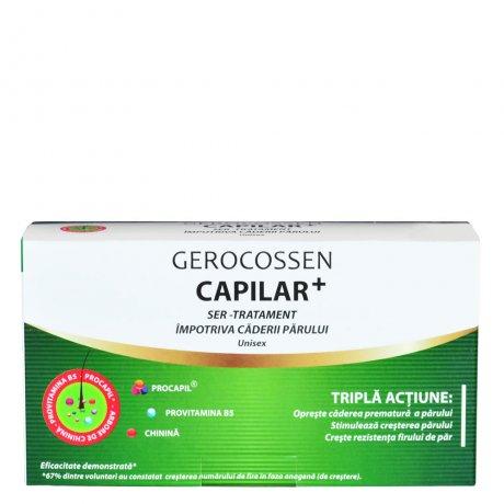 Ser tratament impotriva caderii parului Capilar+