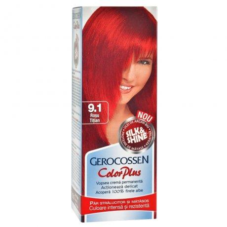 Vopsea de par Silk&Shine 9.1 Rosu Titan - Color Plus